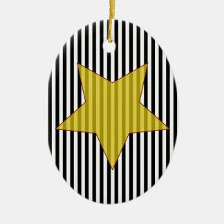 Ornement Ovale En Céramique star