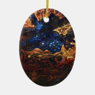 Ornement Ovale En Céramique Starlite