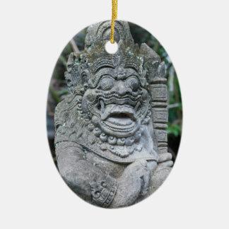 Ornement Ovale En Céramique Statue de Dieu de Balinese