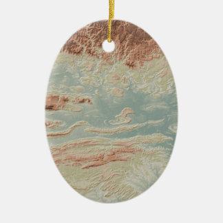 Ornement Ovale En Céramique Style de classique de vallée de la rivière