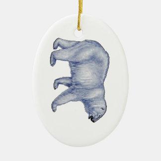 Ornement Ovale En Céramique Survivant arctique