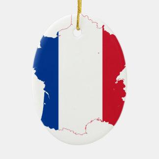 Ornement Ovale En Céramique T-shirt carte-de-France