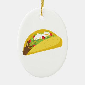 Ornement Ovale En Céramique Tacos