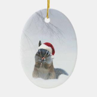 Ornement Ovale En Céramique Tamia mignonne Père Noël avec du sucre de canne