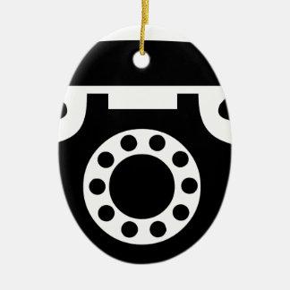 Ornement Ovale En Céramique Téléphone rotatoire