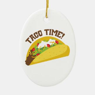 Ornement Ovale En Céramique Temps de taco