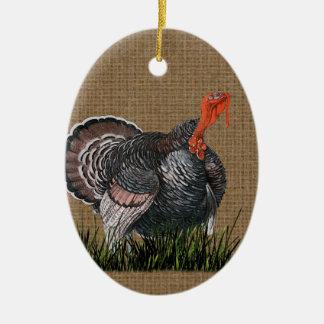 Ornement Ovale En Céramique Thanksgiving Turquie