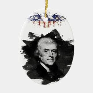 Ornement Ovale En Céramique Thomas Jefferson