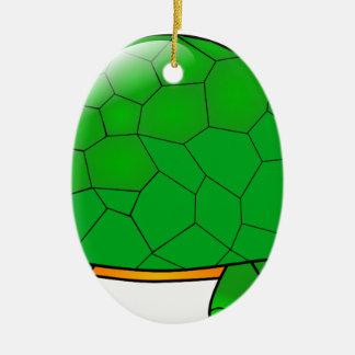 Ornement Ovale En Céramique tortue