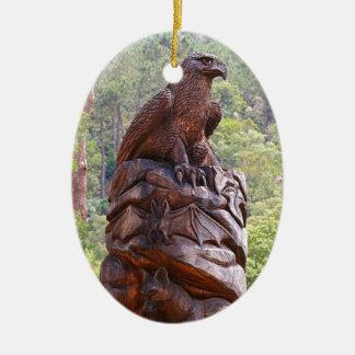 Ornement Ovale En Céramique Totem d'Eagle découpant, Portugal