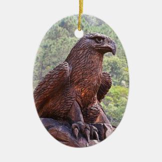 Ornement Ovale En Céramique Totem d'Eagle découpant, Portugal 2