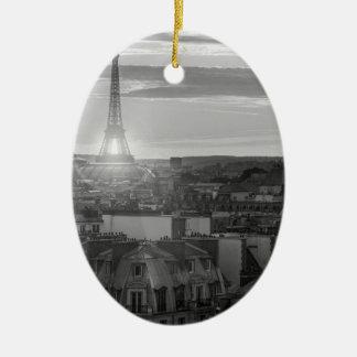 Ornement Ovale En Céramique Tour Eiffel, Paris, France