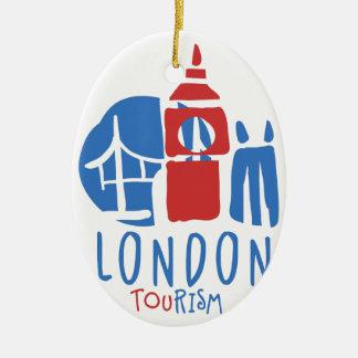Ornement Ovale En Céramique Tourisme de Londres