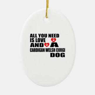 Ornement Ovale En Céramique Tous vous avez besoin de la conception de chiens