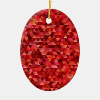 Ornement Ovale En Céramique Triangles sanglantes