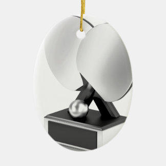 Ornement Ovale En Céramique Trophée argenté de ping-pong