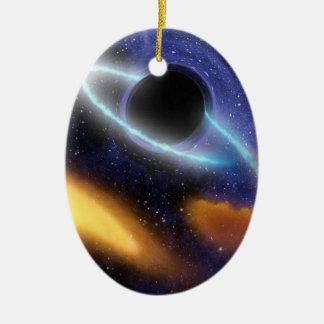 Ornement Ovale En Céramique Trou noir PIA01884 de NASAs