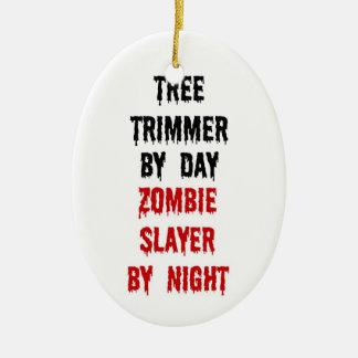 Ornement Ovale En Céramique Tueur de zombi de trimmer d'arbre