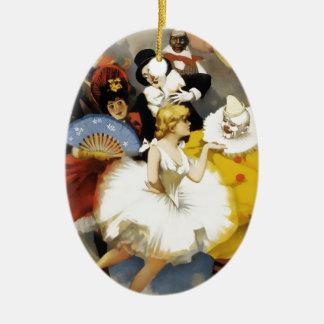 Ornement Ovale En Céramique Un cirque des danseurs
