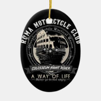 Ornement Ovale En Céramique Un club étrange de moto