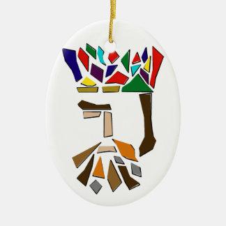 Ornement Ovale En Céramique Un tiers des trois Rois Ornament, ovale