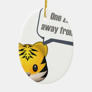 Ornement Ovale En Céramique un zoo à partir - d'Emoji