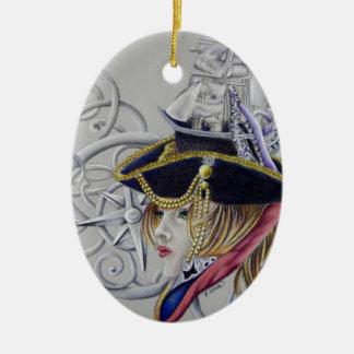 Ornement Ovale En Céramique Une vie de pirates