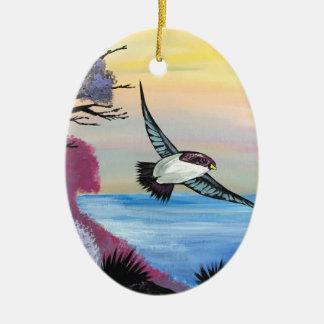Ornement Ovale En Céramique Une vue d'oiseaux