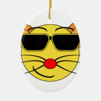 Ornement Ovale En Céramique verre de cat_black