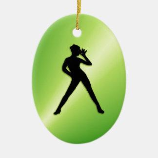 Ornement Ovale En Céramique Vert de danse moderne