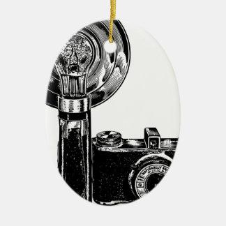 Ornement Ovale En Céramique Vieil appareil-photo