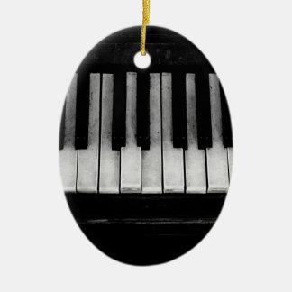 Ornement Ovale En Céramique Vieille musique d'instrument de clavier de piano à