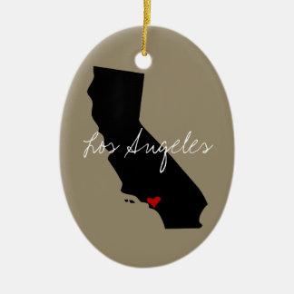 Ornement Ovale En Céramique Ville de la Californie