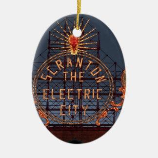 Ornement Ovale En Céramique Ville électrique de Scranton