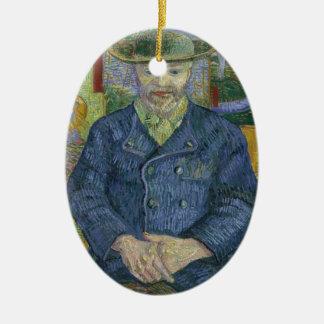 Ornement Ovale En Céramique Vincent van Gogh - portrait de Pere Tanguy