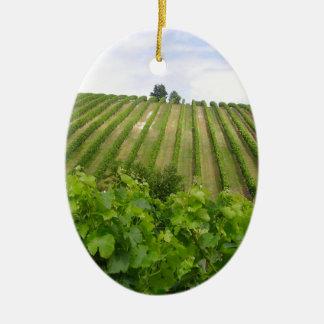 Ornement Ovale En Céramique Vineyard - Vignoble (Bordeaux - France) 02