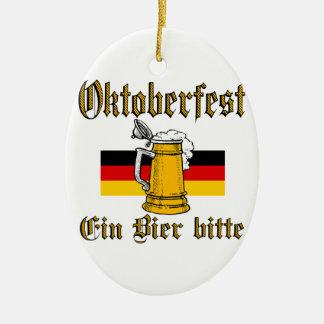 Ornement Ovale En Céramique Vitesse d'Oktoberfest