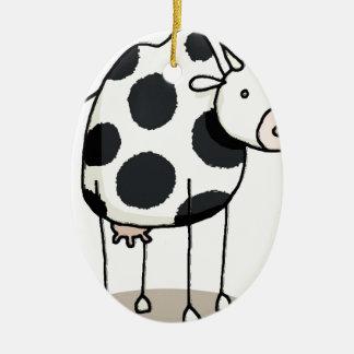 Ornement Ovale En Céramique Vivi vaca