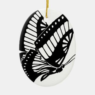 Ornement Ovale En Céramique Vol de papillon dans le vent