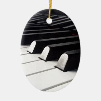 Ornement Ovale En Céramique Vue de piano