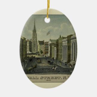 Ornement Ovale En Céramique Wall Street 1847