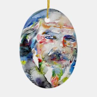 Ornement Ovale En Céramique watts d'Alan - aquarelle portrait.3
