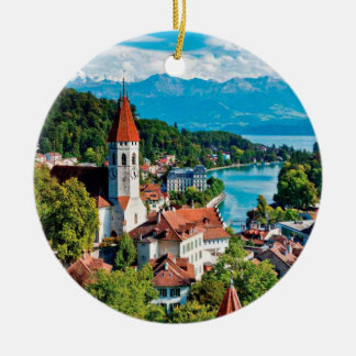 Ornement panoramique d'Interlaken Suisse