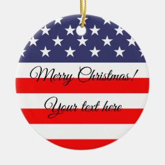 Ornement patriotique d'arbre de Noël de drapeau
