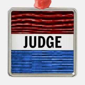 Ornement patriotique de Noël de juge