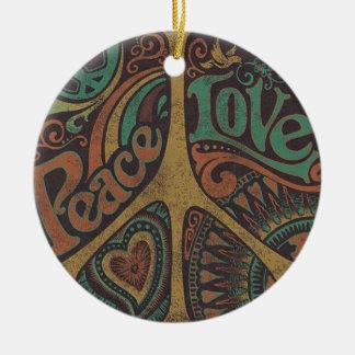 "Ornement «Peace Love """