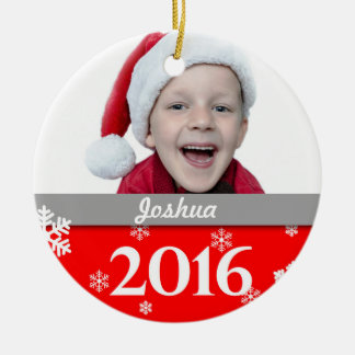 Ornement personnalisé 2016 d'arbre de Noël de