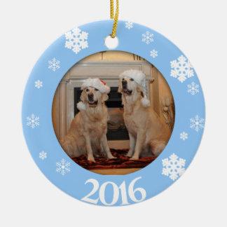 Ornement personnalisé d'arbre de Noël de photo de