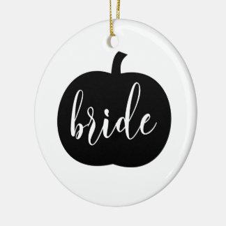 Ornement personnalisé de jeune mariée d'automne