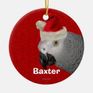 Ornement personnalisé de Noël de perroquet